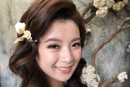 【Chiao楚喬】韓風乾燥花甜美放髮
