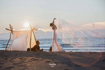 霞光旖旎 ,眼裡唯你|蘇菲雅婚紗攝影|B18