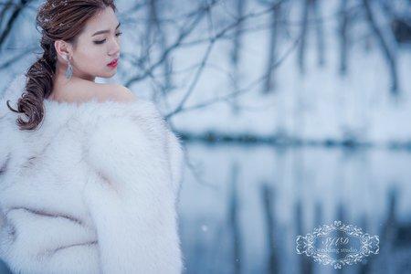 (日系文青風)海外婚紗攝影日本北海道-青池
