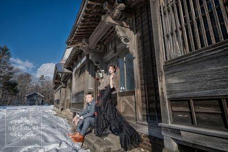日本北海道海外婚紗|開拓之村雪國雪地雪景-美式、韓系、日系、清新、時尚、個性、中式精選婚紗風格
