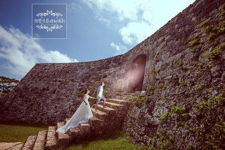 日本海外婚紗-沖繩-美式、韓系、日系、清新、時尚、個性、中式精選婚紗風格-琉球沖繩|座喜味城跡