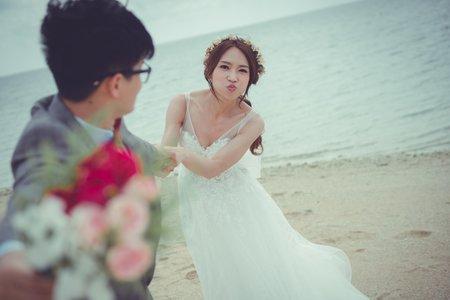 海外婚紗日本沖繩-新原海灘-美式、韓系、日系、清新、時尚、個性、中式精選婚紗風格