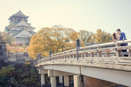 日本大阪婚紗|大阪城天守閣-美式、韓系、日系、清新、時尚、個性、中式精選婚紗風格