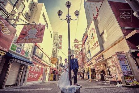 日本婚紗攝影-大阪道頓崛-美式、韓系、日系、清新、時尚、個性、中式精選婚紗風格
