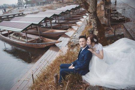 日本海外婚紗京都-嵐山渡月橋-美式、韓系、日系、清新、時尚、個性、中式精選婚紗風格