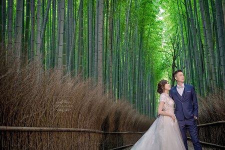 日本京都海外婚紗嵐山-美式、韓系、日系、清新、時尚、個性、中式精選婚紗風格-京都婚紗嵐山竹林