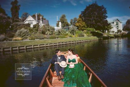 紐西蘭基督城雅芳河拍婚紗-美式、韓系、日系、清新、時尚、個性、中式精選婚紗風格