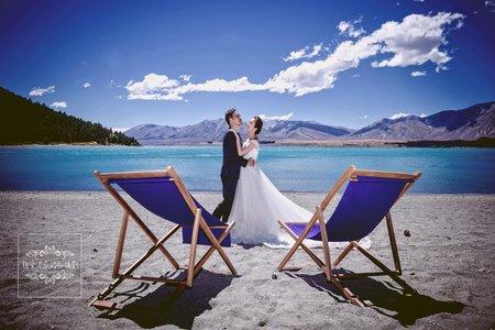 紐西蘭海外-魯冰花海拍婚紗-美式、韓系、日系、清新、時尚、個性、中式精選婚紗風格-