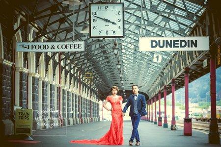 紐西蘭婚紗-但尼丁車站-美式、韓系、日系、清新、時尚、個性、中式精選婚紗風格