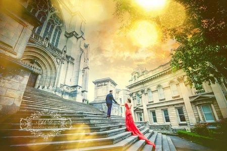 八角廣場聖保羅大教堂-拍婚紗紐西蘭- 美式、韓系、日系、清新、時尚、個性、中式精選婚紗風格