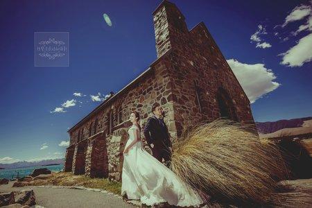 紐西蘭海外婚紗-牧羊人教堂-美式個性、精選婚紗風格
