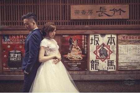 日本海外婚紗-美式、韓系、日系、清新、時尚、個性、中式精選婚紗風格-日本京都鴨川