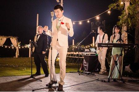 4人組樂團 戶外婚禮
