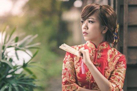 旗袍龍鳳掛造型