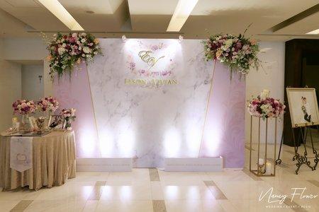 Wedding / 桃粉大理石婚禮佈置