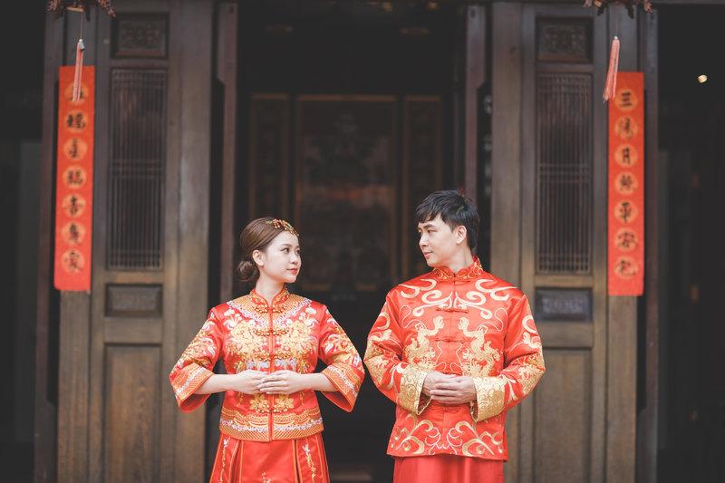 龍鳳褂,中式旗袍,中式婚紗,中式禮服,台中婚紗
