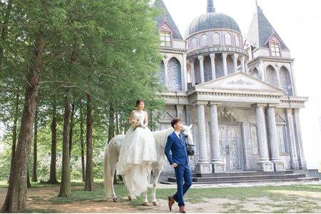 城堡婚紗/華麗復古/白馬婚紗