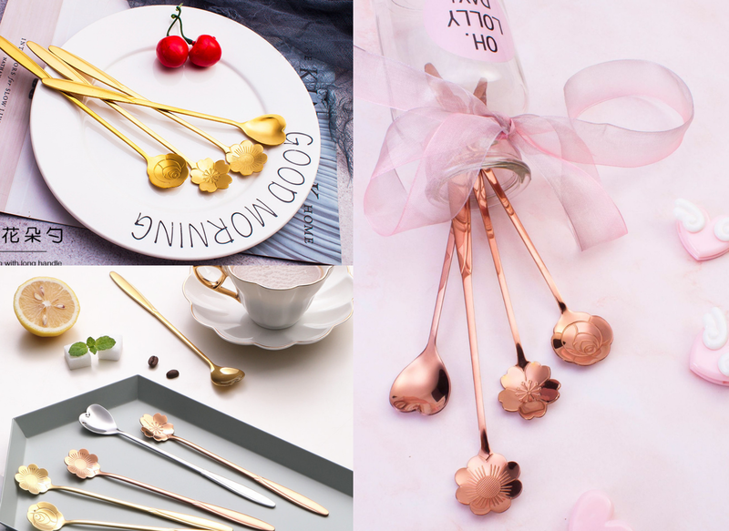 💕韓風花朵造型甜品勺💕