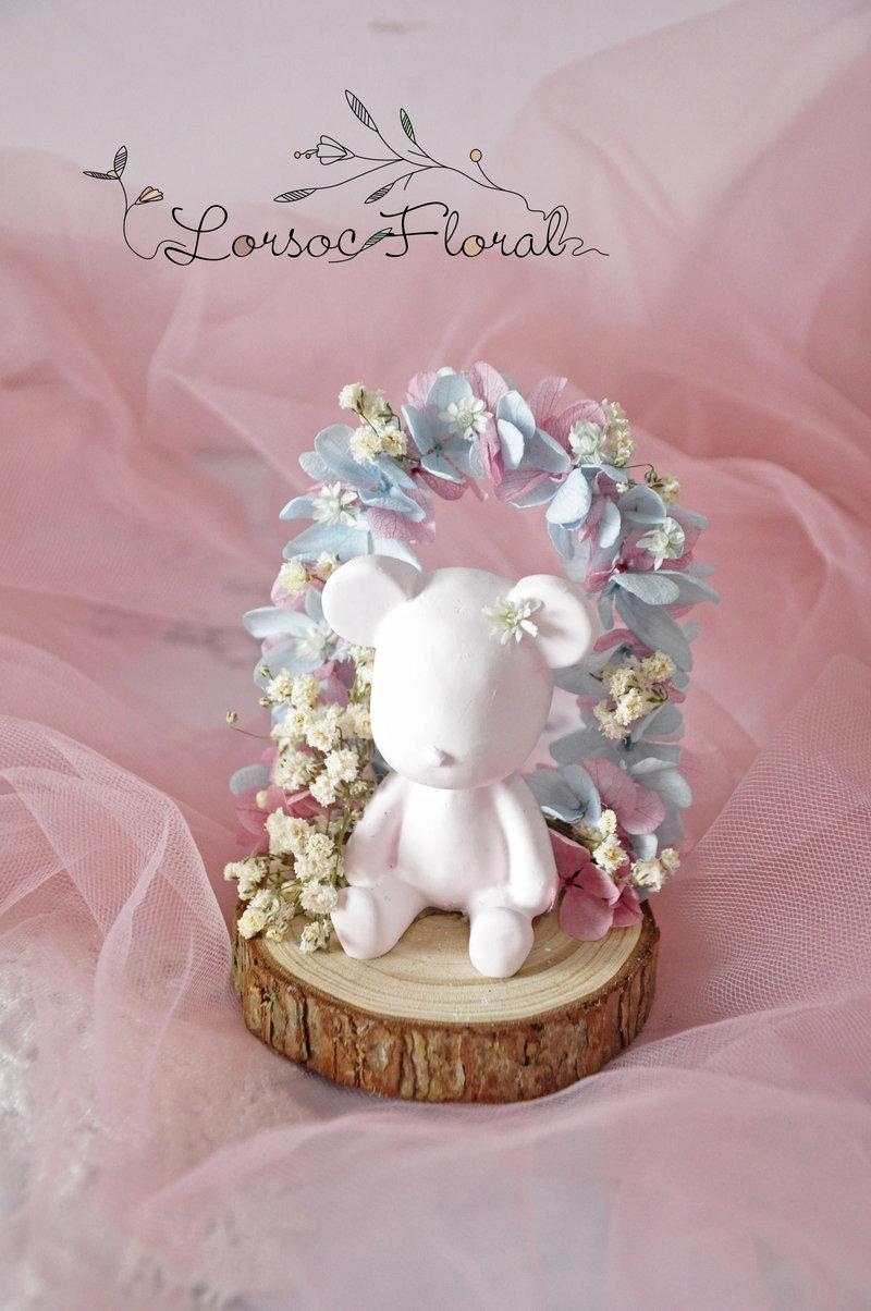 婚禮小物 小熊花拱門 擴香石作品