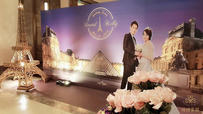 法式主題婚禮佈置