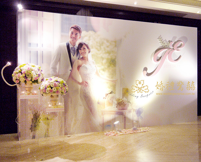 典雅白紫色系婚禮佈置