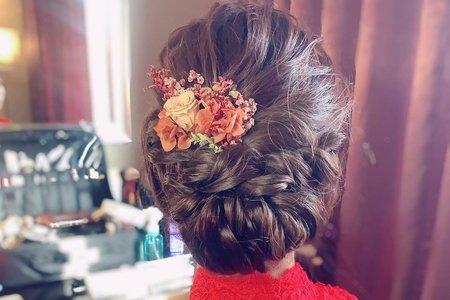 訂婚儀式氣質盤髮造型